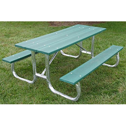 Jayhawk Plastics Commercial Maintenance-free Recycled Plastic Picnic Table
