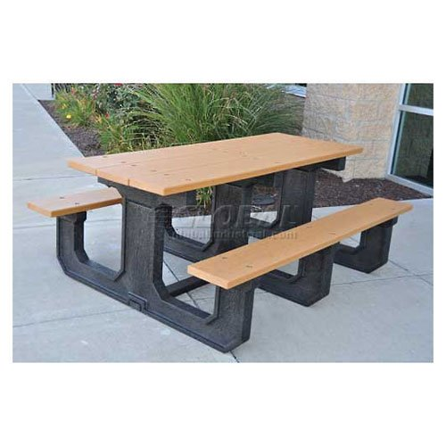 Jayhawk Recycled Plastic 8 Ft Park Place Picnic Table Cedar