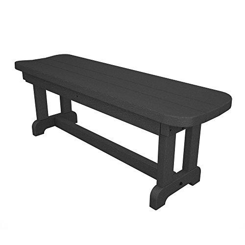 Park Plastic Picnic Bench Back Without Finish Slate Grey Size 48