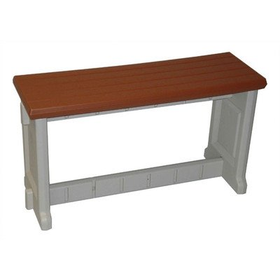 Plastic Picnic Bench Finish Redwood Size 36