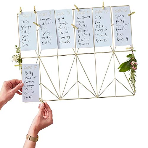 Ginger Ray Wedding Seating Chart Gold Wedding Decorations Wedding Supplies Table Plan for 12 Tables