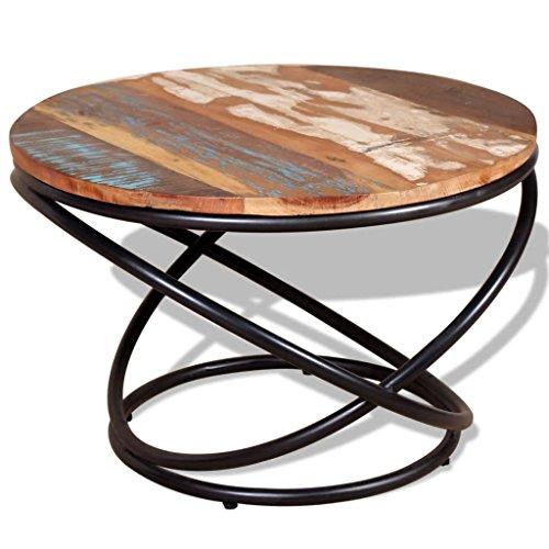 vidaXL Coffee Table Solid Reclaimed Wood 236x236x157