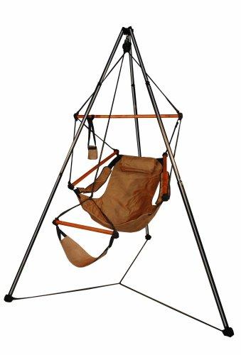 Hammaka Tripod Stand And Hammaka Chair Combo - Wooden Dowels Tan