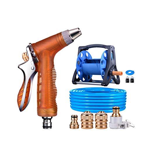 Huijunwenti Car High Pressure Car Wash Water Gun Water Pipe Storage Rack Hose Watering Device Household Tool Set products 3 Shape  2 Size  15m