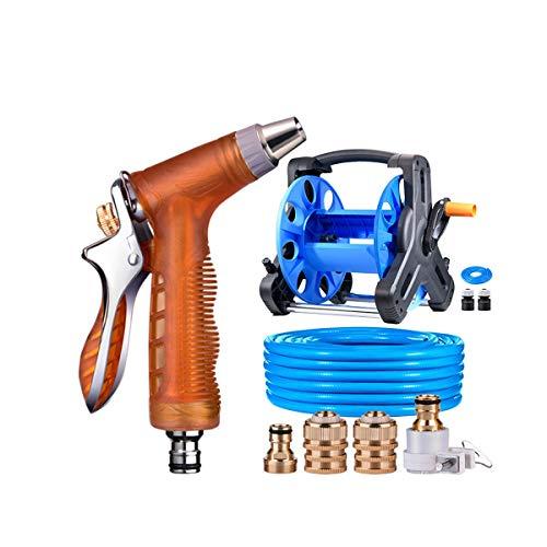 Huijunwenti Car High Pressure Car Wash Water Gun Water Pipe Storage Rack Hose Watering Device Household Tool Set products 3 Shape  2 Size  40m