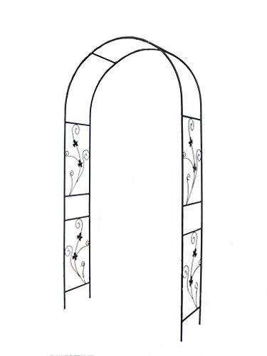 1Go Steel Garden Arch 75 High x 37 Wide Garden Arbor for Various Climbing Plant Outdoor Garden Lawn Backyard