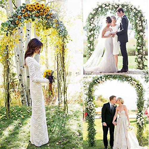GZYF 79 Ft Garden Arbor Archway Green Metal Wedding Party Garden Arch 240 cm