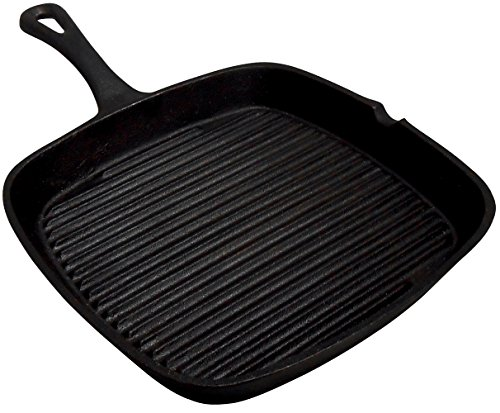 King Kooker Cisqs9s Pre-seasoned Cast Iron Square Skillet 9-inch