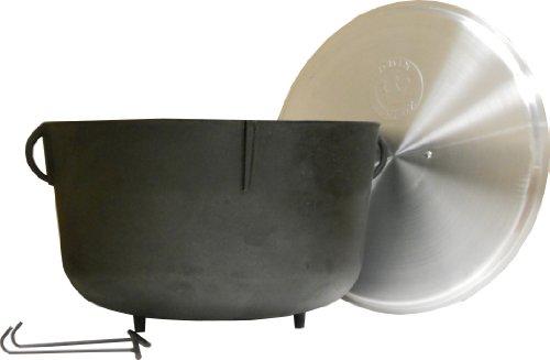 King Kooker 5940 10-gallon Heavy Duty Cast Iron Jambalaya Pot With Feet And Aluminum Lid