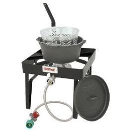 Patio Stove  Cast Iron Pot Cooker