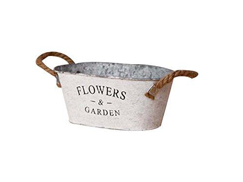 L Vintage Style Succulent Plant Iron Pots Decorative Flowerpot
