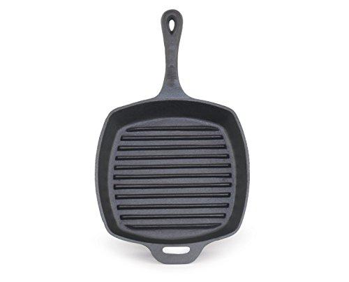 ForHauz Pre-Seasoned Cast-Iron Square Grill Pan 105 Black