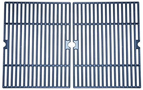Music City Metals 60042 Matte Cast Iron Cooking Grid Replacement For Select Charbroil Gas Grill Models Set Of 2