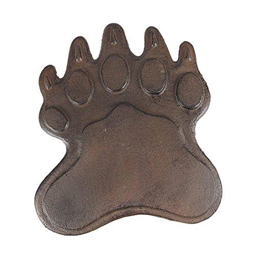 Set Of 8 Cast Iron Bear Footprint Garden Stepping Stones