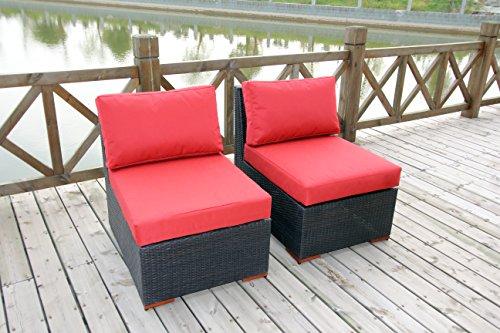 Bhg Cibo Armlessslipper Chair Featuring Fabric 2 Pack Dura-fast Red Olefin