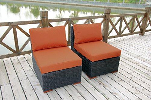 Bhg Cibo Armlessslipper Chair Featuring Sunbrella Fabric 2 Pack Spectrum Cayenne