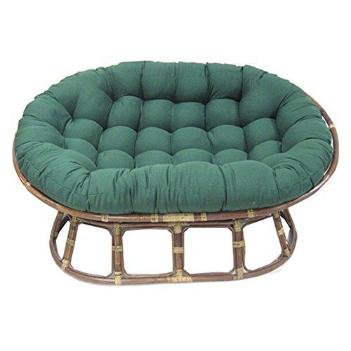 Blazing Needles Solid Twill Double Papasan Chair Cushion 58 x 6 x 78 Black