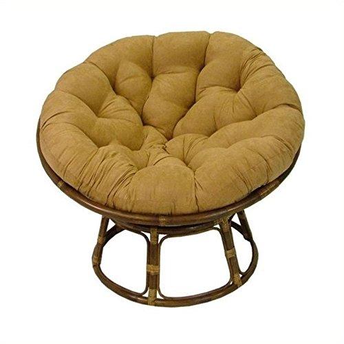 International Caravan Papasan 42&quot Rattan Chair With Cushion - Forest Green