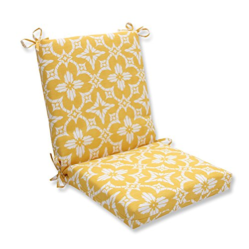 Pillow Perfect OutdoorIndoor Aspidoras Soleil Squared Corners Chair Cushion