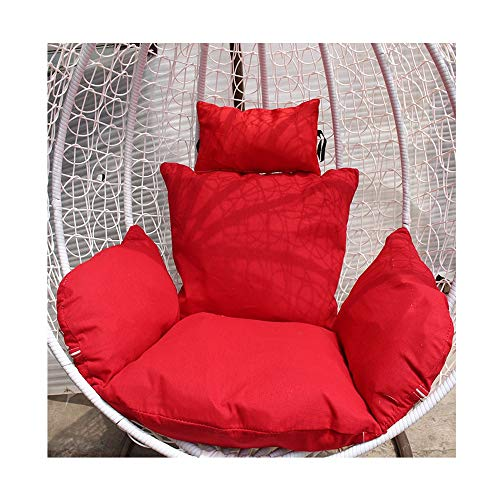 Thick Padded Bed Recliner Relaxer Chair Seat Cover Basket Swing Cushion,Rattan Wicker Egg Hammock Chair With Hanging KitsWeather Fastness Hanging Chair With Comfortable Brown Cushion And PillowBaske
