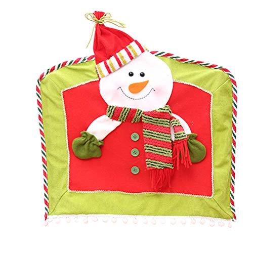 BESTOYARD Snowman Chair Covers Christmas Chair Seat Slipcover Christmas Dinner Table Decorations