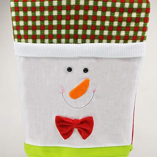OUYAWEI Chair Cover Christmas Decoration Santa Claus Doll Snowman Chair Cover Snowman