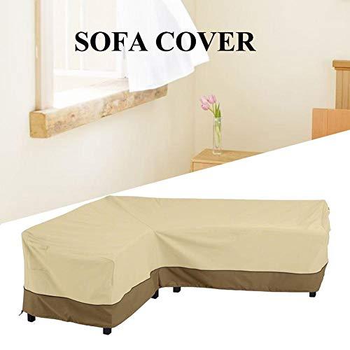 Urnanal Outdoor L Shaped Corner Sofa Slipcover Four Seasons Universal Outdoor Patio Furniture Covers Snowproof Frostproof Waterproof Dustproof