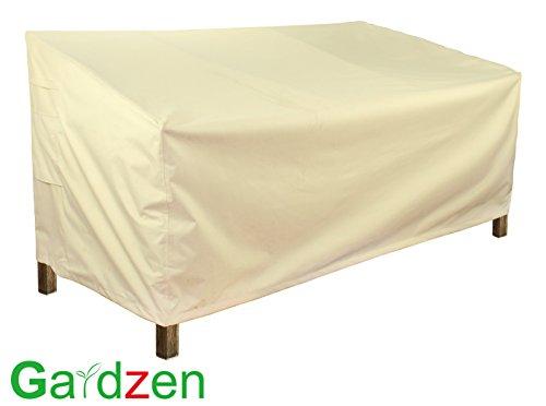 Gardzen Veranda Sofa  Loveseat CoverLargeBeige - Heavy dutyGarden Furniture cover outdoor furniture cover