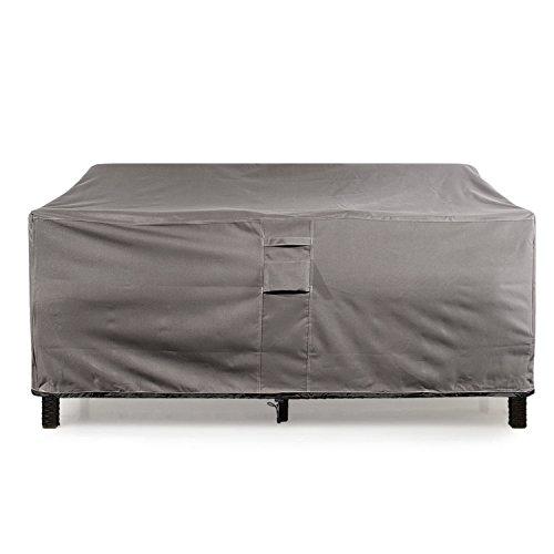 Khomo Gear - Titan Series - Waterproof Heavy Duty Outdoor Lounge Loveseat Sofa Patio Cover - Small - 2 Seats -