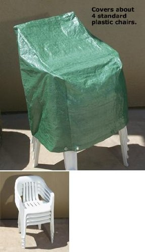Outdoor Patio Chair Cover - Cover 4 Standard Plastic Chairs