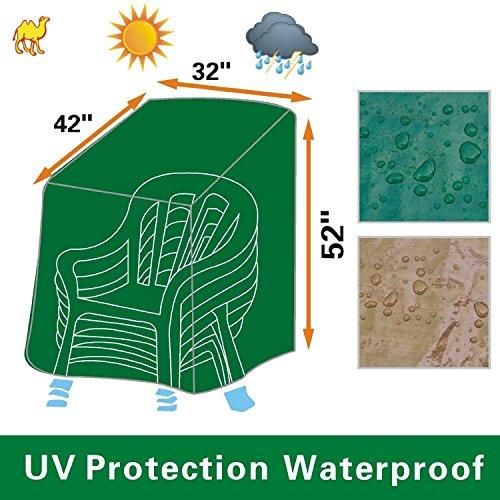BenefitUSA Patio Outdoor Garden Stacking Chair Protector Furniture Cover-Green