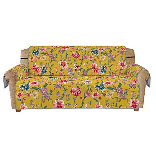 Sofa Slipcovers Couch Cover Iuhan Vintage Print Couch Slip Cover Anti-Slip Quilted Sofa Couch Cover Chair Protector Mat Furniture Covers for Pet Dog Kids C 180x275cm 71x108