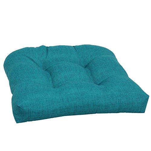 Brentwood Originals 35406 Indooroutdoor Wicker Chair Cushion Linen Turquoise