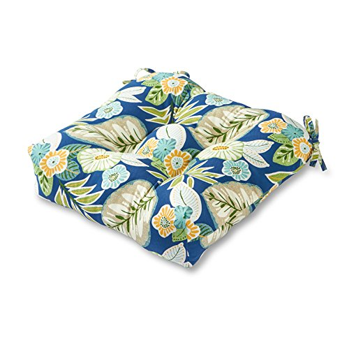 Greendale Home Fashions IndoorOutdoor Chair Cushion Blue Floral 20-Inch