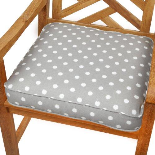 Mozaic Sabrina Corded IndoorOutdoor Chair Cushion 20-Inch Grey Dots