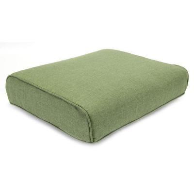 Hampton Bay Fall River Replacement Outdoor Ottoman Cushion In Moss