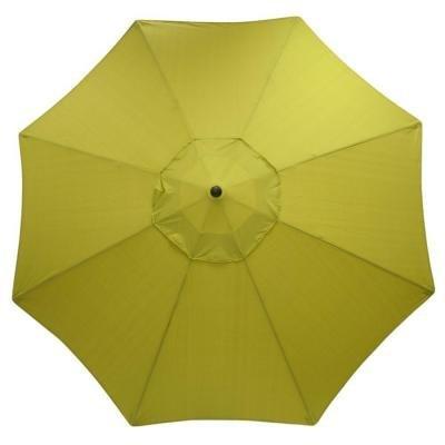 Hampton Bay Green Solid 11 Ft Aluminum Market Patio Umbrella