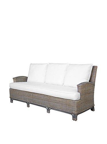 Panama Jack Sunrooms PJS-3001-KBU-S Exuma Sofa with Cushions Light Beige