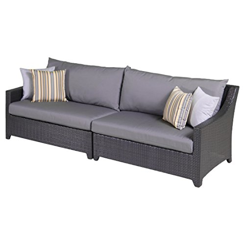 Rst Brands Deco 2-piece Sofa With Cushions Charcoal Grey 31&quot X 96&quot X 33&quot