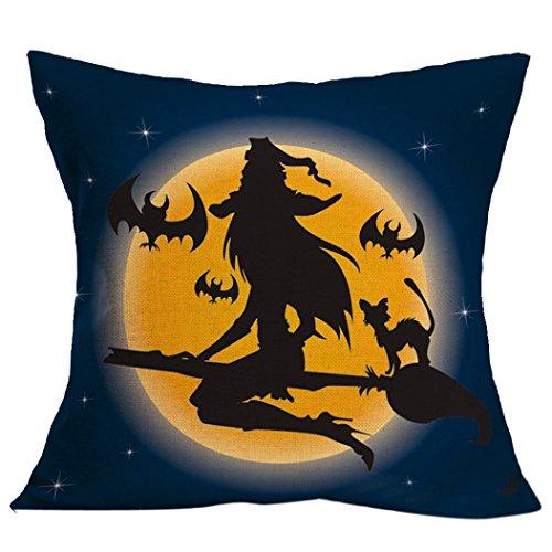 AutumnFallON SALE- Halloween Pillow Case Sofa Waist Throw Cushion Cover Home Decor  17