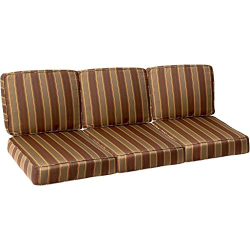 Ultimatepatiocom Small Replacement Outdoor Sofa Cushion Set With Piping - Davidson Redwood