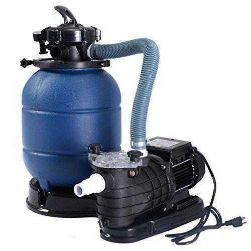 Goplus New Pro 13 Above Ground Pools Sand Filter Pump 2450GPH Swimming Pool Pump 10000GAL