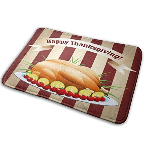 NA Thanksgiving Day Fried Turkey Carpet Floor MatCarpet IndoorOutdoor Carpet Kitchen Dining Room Living Room Bathroom Carpet