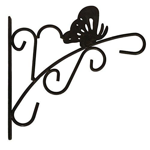 Amagabeli 11 X 11 Black Wrought Iron Curved Hook - Wall Hook for Hanging Flower Pot Planter Hook Hanger for Wind Chime Bird Feeder Pole Lantern Hanger Hanging Planter Wall Bracket Plant Stand
