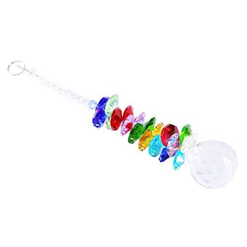 Colorful Rainbow Maker Chandelier Crystal Suncatcher Hanging Chandelier Ball Hanging Prism Pendulum Pendant Decor
