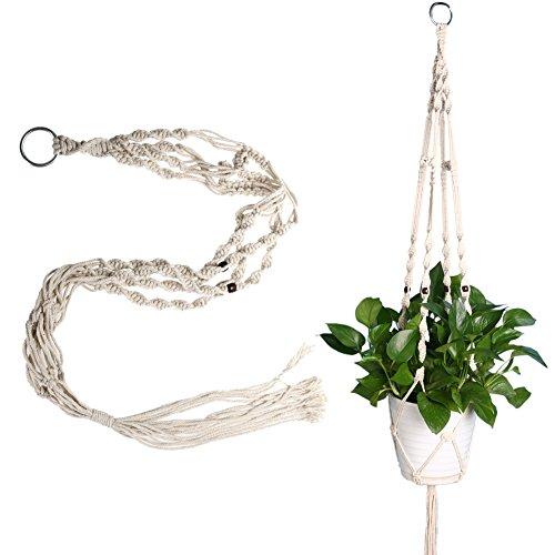 WinnerEco Macrame Plant Hanger Flower Pot Holder Indoor Outdoor Hanging Planter Basket 115CM