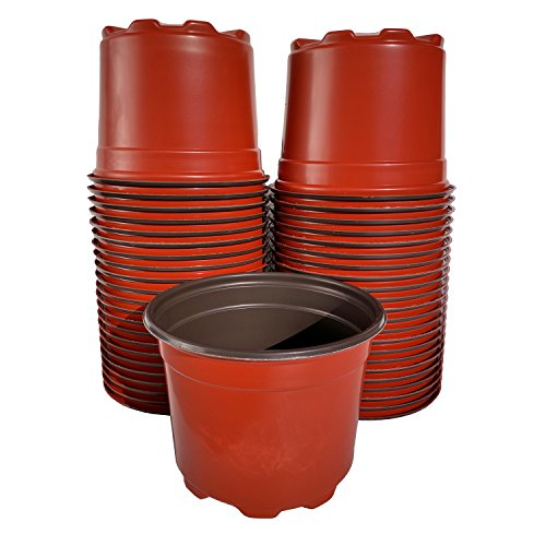 5 Inch Round Garden And Greenhouse Pots - Made In The Usa - Durable Resuable Recyclable - Hydroponics Seed
