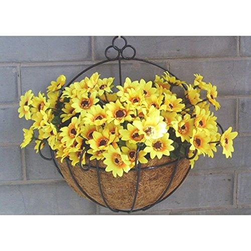 Kingso Wall Hanging Basket Planter Flower Plant Pot Home Garden Balcony Decoration 12-inch