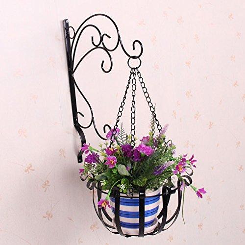 Scrollwork Design Large 3 Leg Arms Metal Wall Mounted Hanging Plant Flower Planter Pot Decorative Plants Hanging