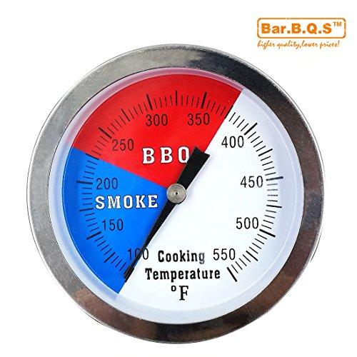 Barbqs 3 550F BBQ Charcoal Grill Pit Wood Smoker Temp Gauge Grill Thermometer With 3 Stem SS RWB